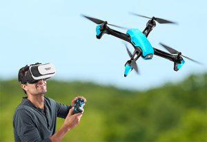 This image shows a virtual reality drone.